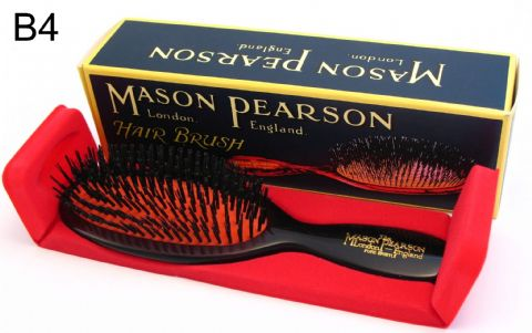 Mason Pearson Pocket Size Pure Boar Bristle Hairbrush (B4) Dark Ruby